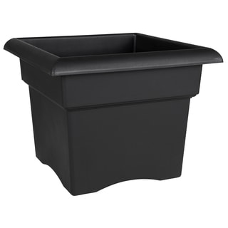 Bloem Veranda Deck Box Planter, 14-inch, Black