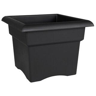 Bloem Veranda Deck Box Planter, 14-inch, Black