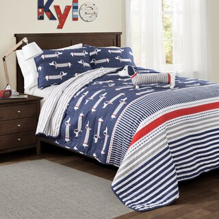 Lush Decor Sausage Dog 4-piece Quilt Set