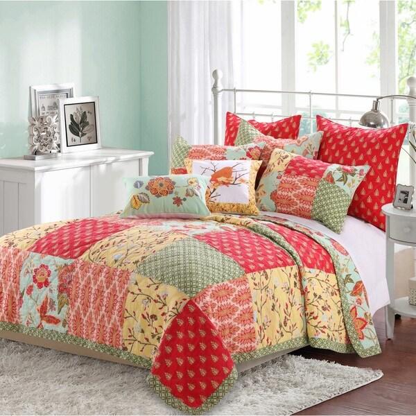 Barefoot Bungalow Eva Honeydew 3-piece Quilt Set