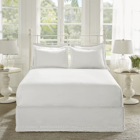Madison Park Essentials Ruffled Solid Ruffled Bedskirt and Shams Set