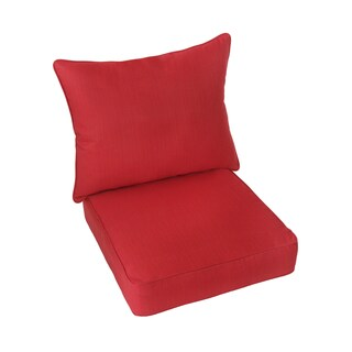 Dawson Sunbrella Textured Red Indoor/ Outdoor Dri-Fast Cushion and Pillow Set
