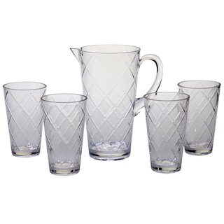 Diamond Clear Acrylic Drinkware Set (Pack of 5)