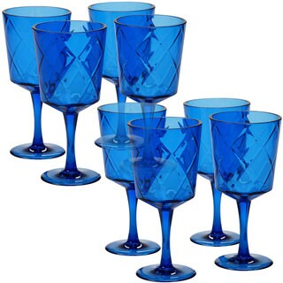 Certified International Cobalt Blue Acrylic 13-ounce All-purpose Goblets (Pack of 8)