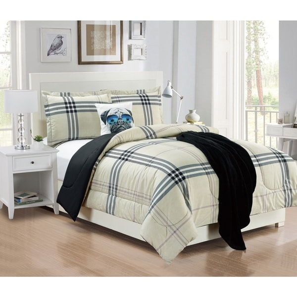 Artistic Linen Bruno Plaid 5-Piece Comforter Set