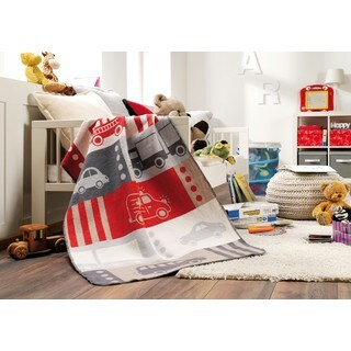 Automobiles Multicolored Cotton Pure Baby Blanket