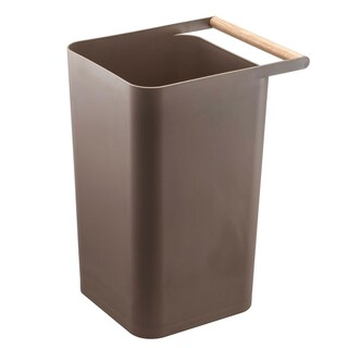 Como Beige/ Brown Trash Can with Wooden Handle by Yamazaki Home