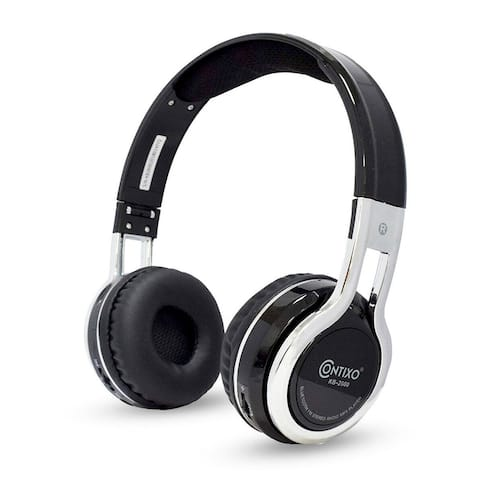 Contixo 2600 Kids Safe 85db Foldable Wireless Bluetooth Headphone Built-in Microphone,