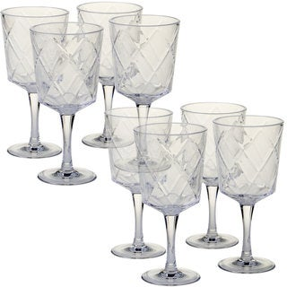 Certified International Clear Acrylic 13-ounce All-purpose Goblets (Pack of 8)
