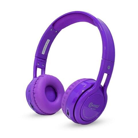 Contixo Kid Safe 85db Foldable Wireless Bluetooth Headphone Built-in Microphone