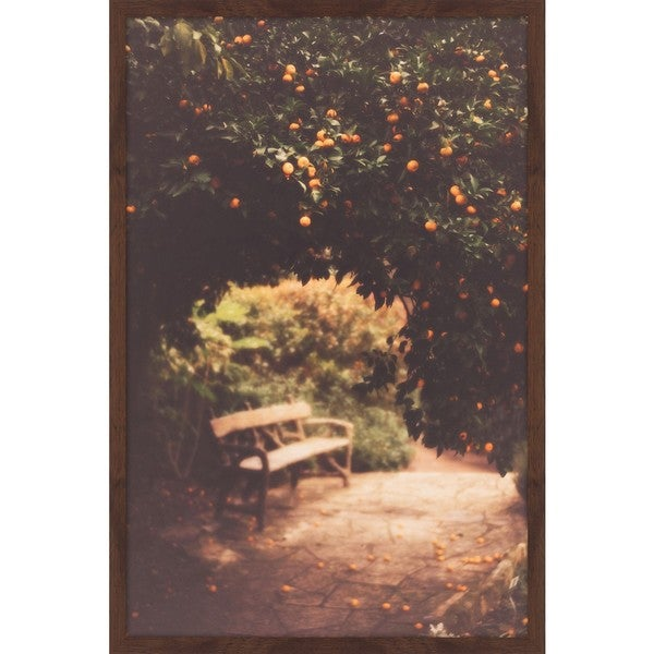 Marmont Hill - 'Under the Orange Tree' by Ann Barnes Framed Painting Print