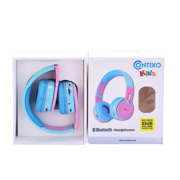 Shop Contixo Kb 2600 Kid Safe Volume Limiting Over The Ear Wireless Bluetooth Headphones Pink Overstock 14174159