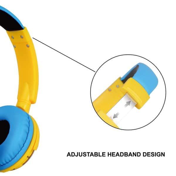 Shop Contixo KB-300 Kids 85 dB Over-Ear Foldable Wireless ...