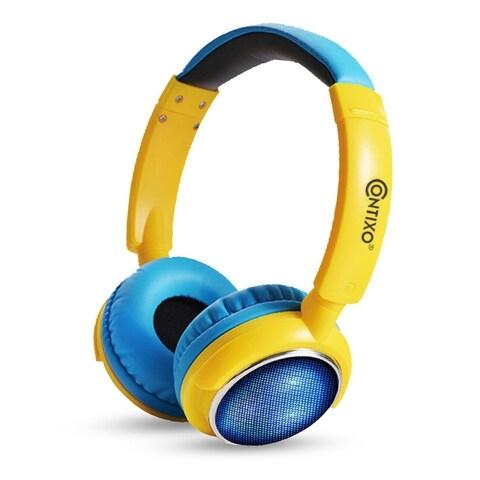 Contixo KB-300 Kids 85 dB Over-Ear Foldable Wireless Bluetooth LED Headphone