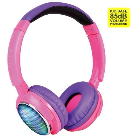 Contixo KB-300 Kid-safe 85DB Over-the-ear Foldable Wireless Bluetooth LED Headphone