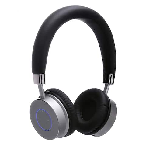 Contixo KB-200 Premium Kids Bluetooth Wireless Black Headphones with Volume Limit Controls 85dB and Microphone