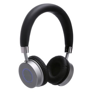 Contixo KB-200 Premium Kids Bluetooth Wireless Black Headphones with Volume Limit Controls 85dB, and Microphone