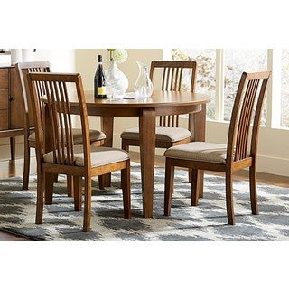 Copper Grove Aconitum Round Brown Dining Table