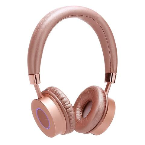 Contixo KB-200 Premium Kids, Volume Limit Control Max 85dB, Rose Gold Bluetooth Wireless Headphones with Microphone