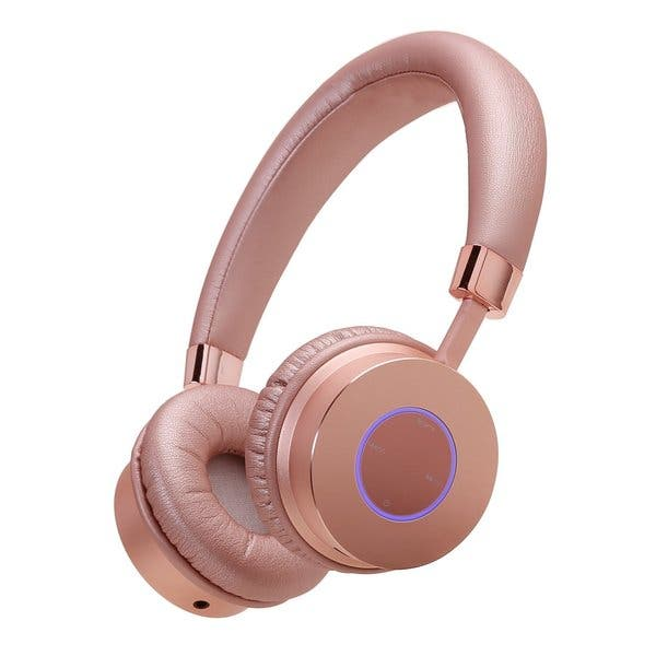 Shop Contixo Kb 200 Premium Kids Volume Limit Control Max 85db Rose Gold Bluetooth Wireless Headphones With Microphone Overstock 14174169