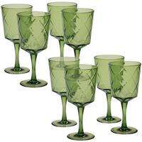Certified International Green Diamond Acrylic 13-ounce All-purpose Goblet (Pack of 8)