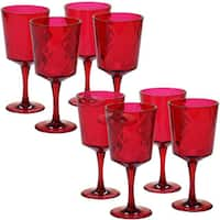 Certified International Ruby Acrylic 13-ounce All-purpose Goblets (Pack of 8)