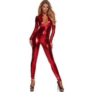 Women's Full-Body Long-Sleeve Zip-Up Bodysuit