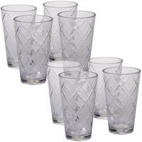 Certified International Clear Acrylic 20-ounce Iced Tea Glasses (Pack of 8)