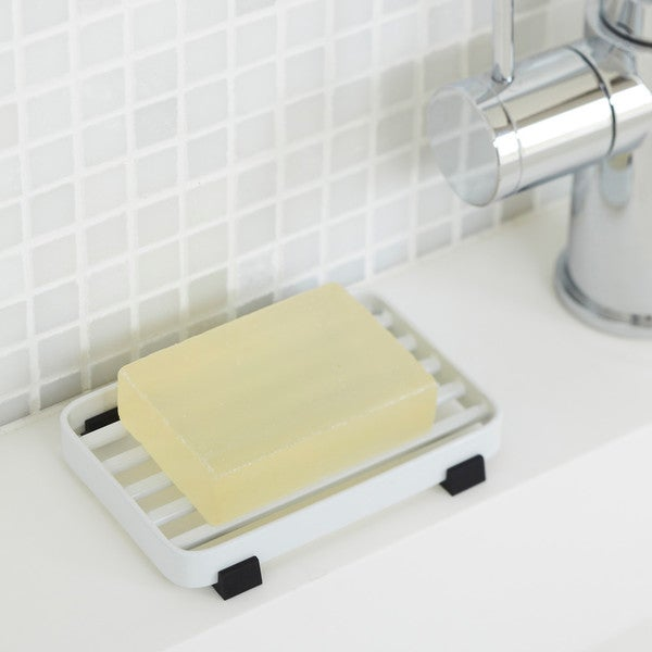 Tower White/ Black Steel Soap Tray by Yamazaki Home