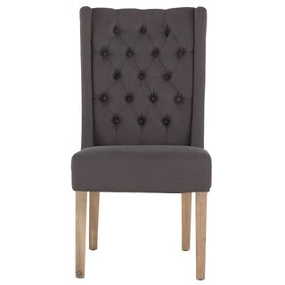Chloe Gray Linen Natural Dining Chair