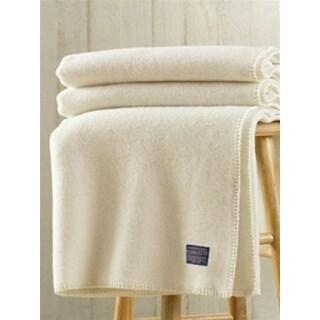 Pendleton Eco-Wise Machine Washable White X-L Twin Blanket