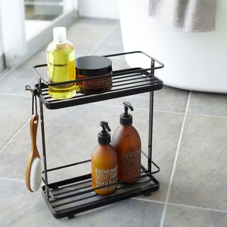 Tower White/ Black Bath Rack by Yamazaki Home
