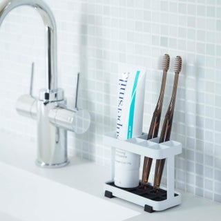 Tower White/ Black Steel Toothbrush Stand by Yamazaki Home (2 options available)