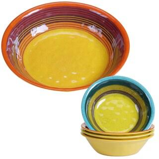 Certified International Sedona Multicolor Melamine Salad/Serving Set (Pack of 5)