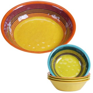 Certified International Sedona Multicolor Melamine Salad/Serving Set (Pack of 5)