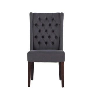 Chloe Gray Linen Walnut Dining Chair