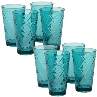 Link to Certified International Teal Diamond Acrylic 20-ounce Ice Tea Glass (Pack of 8) Similar Items in Glasses & Barware