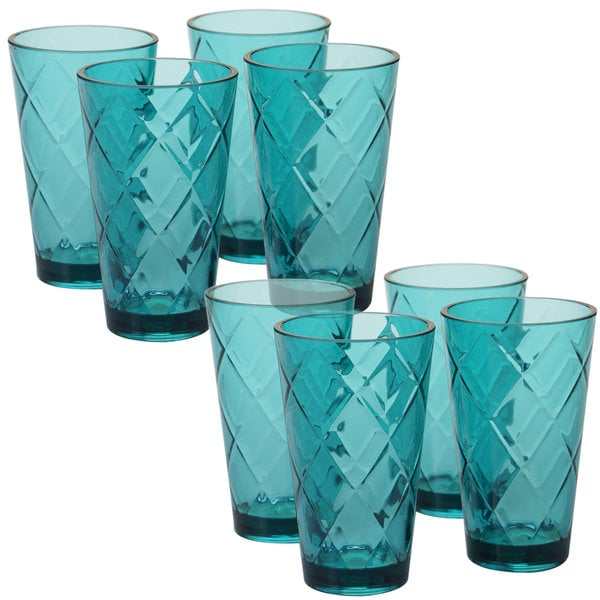 product pack oz tea ice set of acrylic international glass home certified garden teal diamond ounce