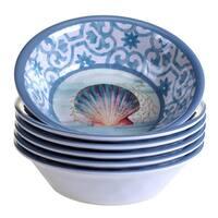 Certified International Ocean Dream Melamine All-purpose Bowls (Pack of 6)