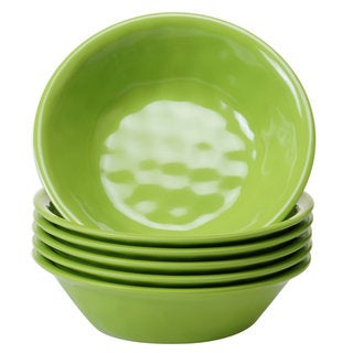 Certified International Solid Green All-purpose Bowls, Set of 6