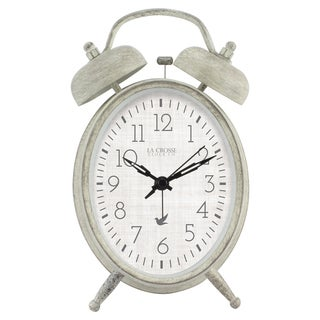 La Crosse Clock 617-2916 Analog Twin Bell Alarm Clock
