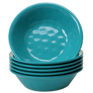 Certified International Solid Teal All-purpose Bowls, Set of 6