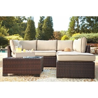 Marvelous Signature Design By Ashley Loughran Brown Loveseat Set