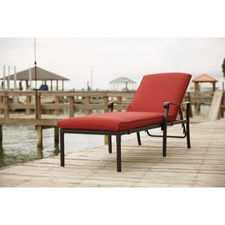 Signature Design by Ashley Tanglevale Burnt Orange Chaise Lounge with Cushion