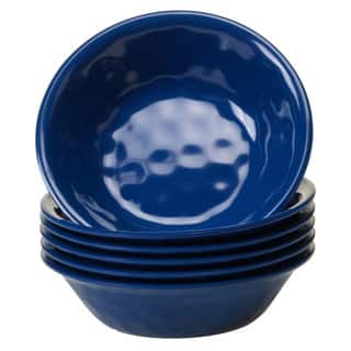 Certified International Solid Cobalt Blue All-purpose Bowls, Set of 6