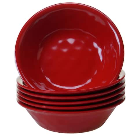Certified International Solid Red All-purpose Bowls, Set of 6