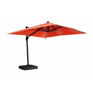 Signature Design by Ashley 10-foot Oakengrove Solar Powered LED Cantilever Umbrella