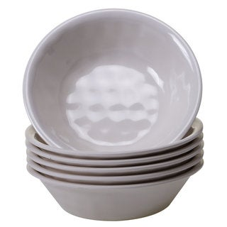 Certified International Cream Melamine All-purpose Bowls (Pack of 6)