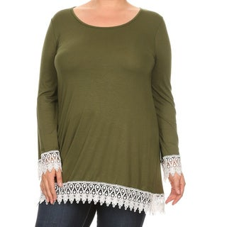 Women's Plus-size Mixed Tapestry Tunic