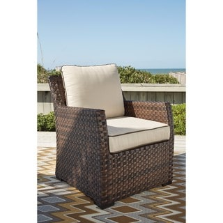Signature Design By Ashley Salceda Brown Lounge Chair With Cushion